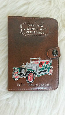 Vintage 1960s Rolls Royce Driving Licence & Certificate Of Insurance Holder