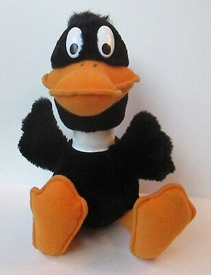 "VINTAGE DAFFY DUCK 12"" PLUSH DOLL, Looney Tunes, Mighty Star The 24K, 1993"