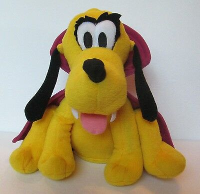 "Disney Pluto Vampire Animated 9"" Plush Toy Plays Music Spins Halloween"