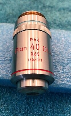 Nikon Plan 40x /0.65 160/0.17 Ph3 DLL MICROSCOPE OBJECTIVE
