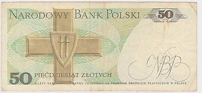 (NI-316) 1975 Poland 50 ZIOTYCH bank note (D)