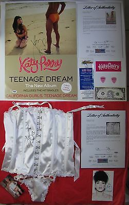 Katy Perry PSA/DNA Signed Teenage Dream Poster & New Bustier Collection Free S&H