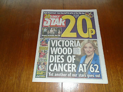 DAILY STAR NEWSPAPER 21-04-2016 VICTORIA WOOD RIHANNA THE QUEEN 90th COMPLETE