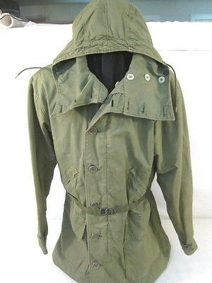 WWII Era US Army 10th Mountain Parka Type Reversible Overcoat - Size 40 - Xlnt