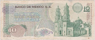 (NI-253) 1969 Mexico 10 pesos bank note (C)