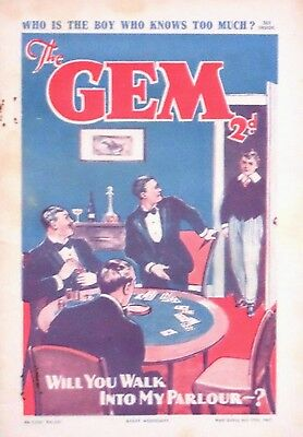 THE GEM - 17th JULY 1937 (14 - 20 July) RARE 80th BIRTHDAY GIFT !! VG+....magnet