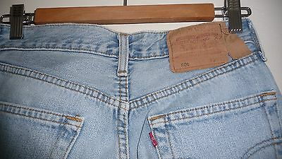Vintage Levi's 501 Jeans 29 W 30 L  Light Blue Denim