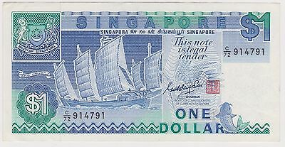 (NI-323) 1987 Singapore $1.00  bank note (B)