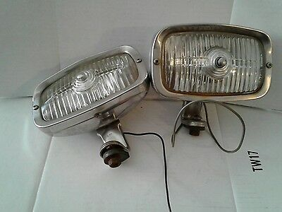 Vintage Fog Lamp Light Made In England English Driving Running Lucas Reflectors