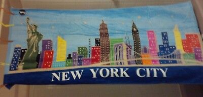 New York City Sky Line Beach Towel Statue Of Liberty