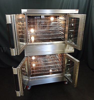 Vulcan / Hobart Gas Commercial Full Size Double Stacked Convection Oven Hgc-502