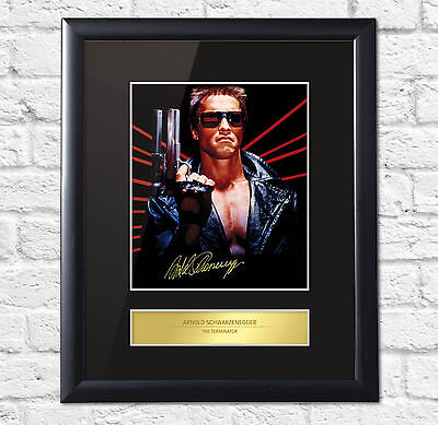 Arnold Schwarzenegger Signed Mounted Photo Display The Terminator FRAME