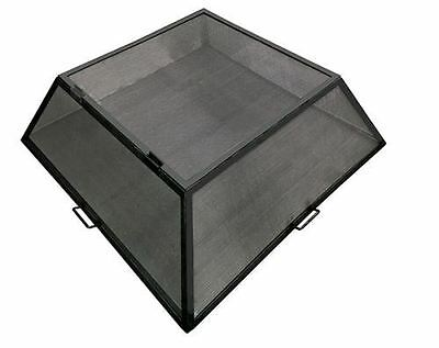 """26"""" x 26"""" Square Hybrid Steel Fire Pit Screen with Hinged Access Door"""