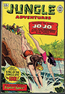 JUNGLE ADVENTURE  17  VF-/7.5  -  Reprints all Jo-Jo stories!