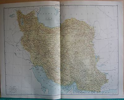 1919 Large Map- Persia,iran,teheran,kerman,basra,meshed,tabriz