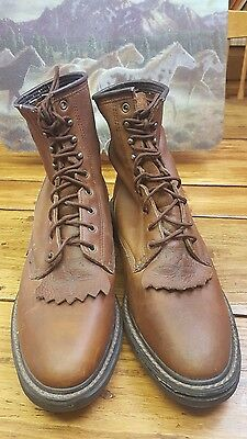 Ariat Mens Brown Leather Lace Up Work Boots Shoes  size 10.5 EE