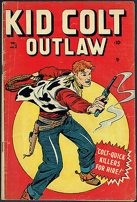 KID COLT OUTLAW  3  VG/4.0  -  Rare Marvel book from 1948!