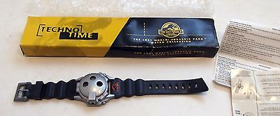 Vintage Burger King Jurassic Park Lost World Watch Techno Time Flip Cover NIB