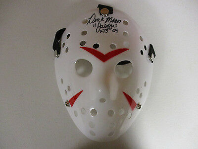 Friday 13Th Jason Vorhees Derek Mears Autographed Signed Mask Signing Pic Proof