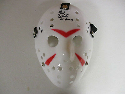 Friday 13Th Jason Vorhees Ted White Autographed Signed Mask Signing Pic Proof