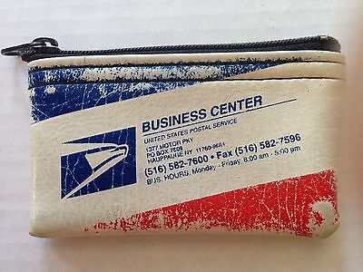 Vintage Rifkin Co. USPS Postal Service Priority Mail Zipper Coin Purse Wallet
