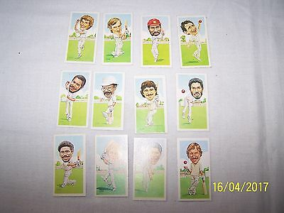 Texaco Trophy Cricket Cards 12/12