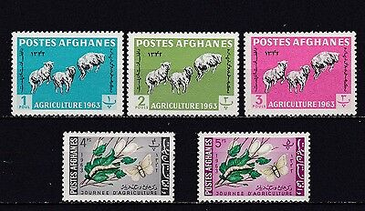 Afghanistan #637-641 Mnh Sheep & Moth & Mulberry Branch