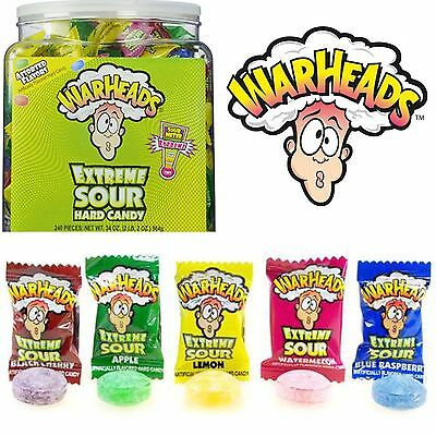 Warheads Extreme Sour Hard Candy Loose Kids Sweets Individually Wrapped American
