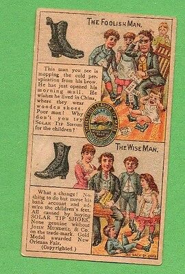 TWO BOOTS & SHOE VICTORIAN TRADE CARDS SMITH in YORK PA KRAUSE in ALLENTOWN PA