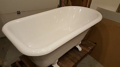 white recor cast iron claw foot tub very good condition...