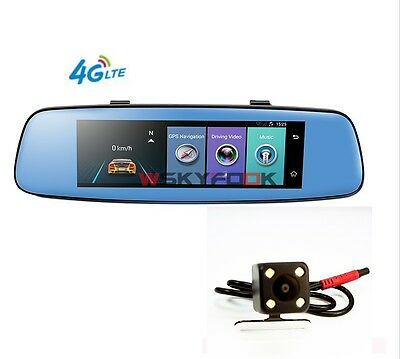"7.84"" Touch 4G Car DVR Remote Monitor Rear view mirror  DVR and camera Android"