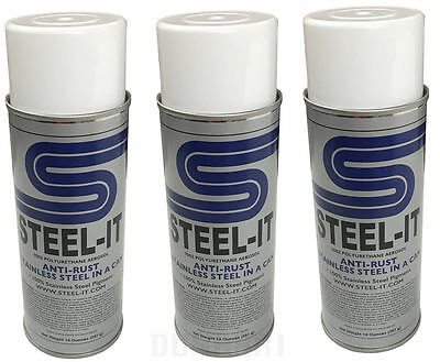 Steel-It Polyurethane 14oz Spray Paint Can (3 Pack) Steel It