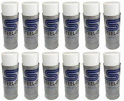 1 Case Steel-it Polyurethane Spray Paint Can (12 Pack) Stainless Steel Steel it