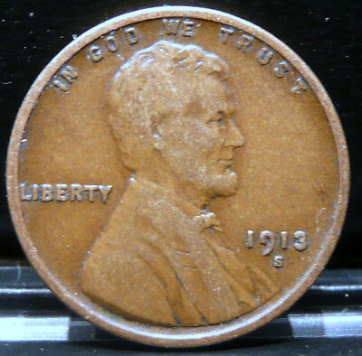 1913-S Lincoln Wheat Cent     -    Key Date    -    Very Nice Circulated Coin