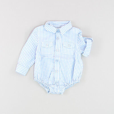 Camisa body color Azul marca Early days 6 Meses