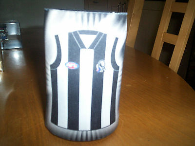 collingwood australian football stubby drinks cooler with club song NEW