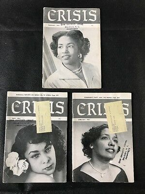 Lot Of 3 Crisis: Record of the Darker Races NAACP Magazine 1951 Civil Rights