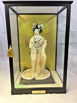 franklin mint madame butterfly wedding geisha Doll Hanae Mori RARE! W Display