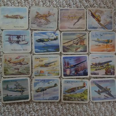Cracker Jack 1940's Airplane Card lot x 16 (from series of 147 cards) UN Battle