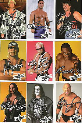 WCW sticker set of 48 Bret Flair Hogan Mysterio Nash Benoit Guerrero Sting
