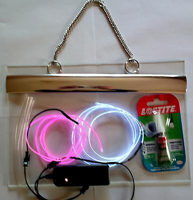 DIY NEON SIGN full kits, Make Your Own Neon Effect Sign, Neon El wire kit