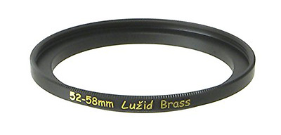 LUŽID Brass 52mm to 58mm Step Up Filter Ring Adapter 52 58 Luzid