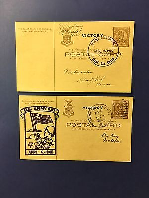 2 Philippines 1945 Victory Postal Cards April 1945