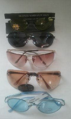 Sunglasses Lot Of 5 Variety Of Frames & Lens Colors Some With Uv400- #053-A
