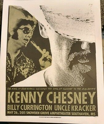 Kenny Chesney 2011 Snowden Grove Limited Tour Poster