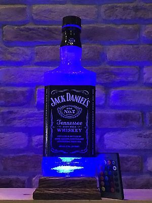 Jack Daniels Big 1.75 L Remote Control Bottle Lamp Man Cave Fathers Day Gift