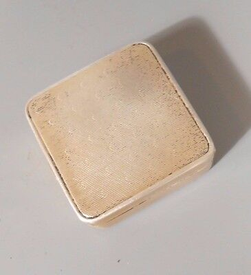 Fine Old Gilt Sterling Silver Hinged Pill Box ca. 20th century