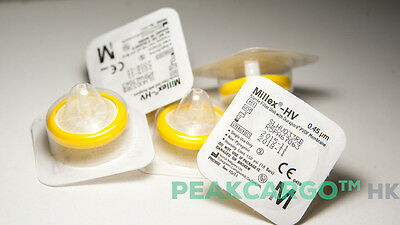 5x Millex-HV 33mm Syringe Filter Unit 0.45µm Durapore (PVDF) Membrane Sterilized