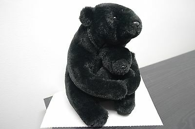 Too Cute Plush Momma and Baby Black Bear