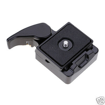 """Camera Tripod Quick Release Plate Mount Adapter Clamp 1/4"""",3/8"""" Screw Hole"""